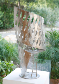 """COURTSHIP II [Stainless Steel 28"""" h]"""